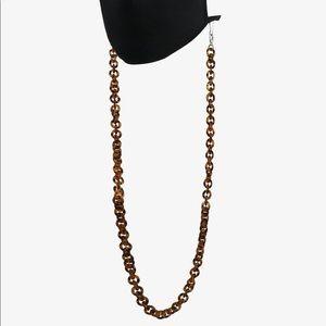 Chunky tortoise mask/sunglass chain